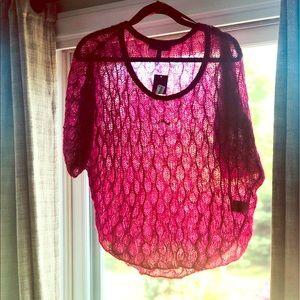 NWT Sheer loose shoulder lauren conrad shirt top